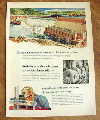1943 Westinghouse Ad Grand Coulee Dam 1943 Roblee Shoes Ad WW II Theme