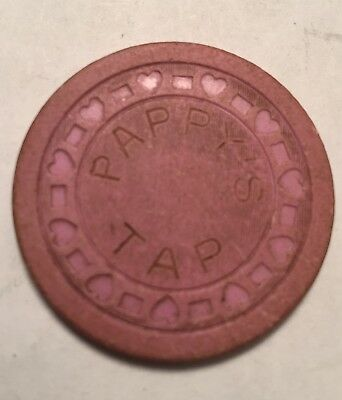 Vintage Clay Poker Chip PAPPY'S TAP Casino Gaming
