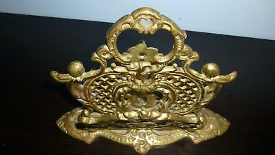 Beautiful Antique Brass Art-Deco Napkin or Mail Holder