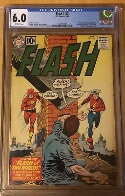 The Flash 123 CGC 6.0 | DC 1961 | 1st GA Flash In SA! Origin of Both & More!