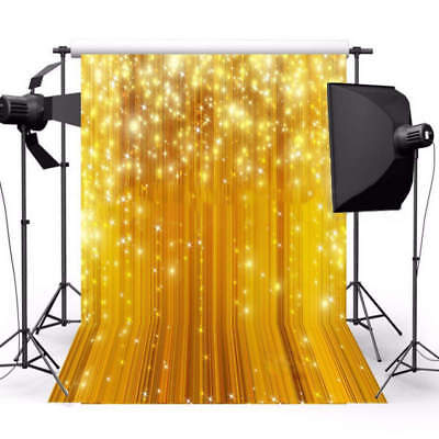5x7FT New Gold Glitter Fabric Studio Photography Backdrop Props Photo Background