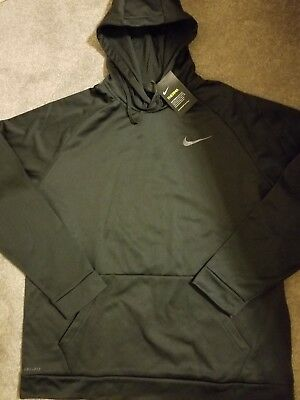 NEW NIKE BLACK XXL HOODIE PULL OVER THERMA pullover jacket 2XL