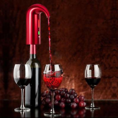 Electric Smart Wine Aerator Dispenser Decanter Pouring Pourer USB Rechargeable