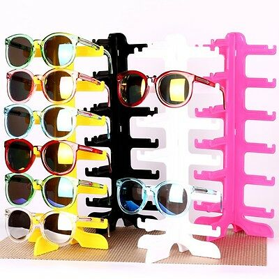 6Pair Sunglasses Holder Display Rack Eyeglass Glasses Frame Organizer Show Stand