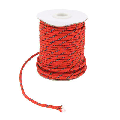 1 Roll Reflective Nylon Cord Tent Canopy Guyline Rope Packaging Line 30m