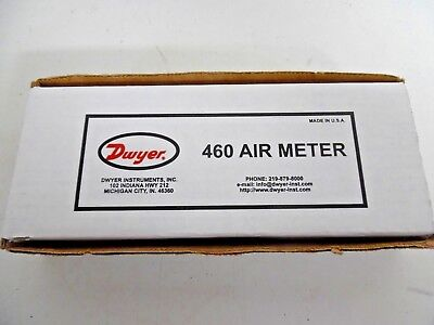 Dwyer 460 Air Meter In Case With Attachments New In Box
