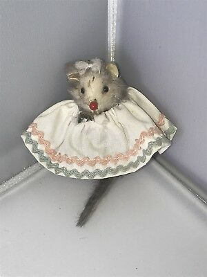 Original Fur Toys Made In W Germany Baby Mouse In Dress