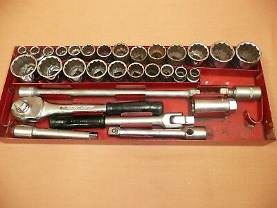 "30 piece Whitworth & AF Sidchrome Socket set ½"" Drive ..... nearly all Sidchrome"