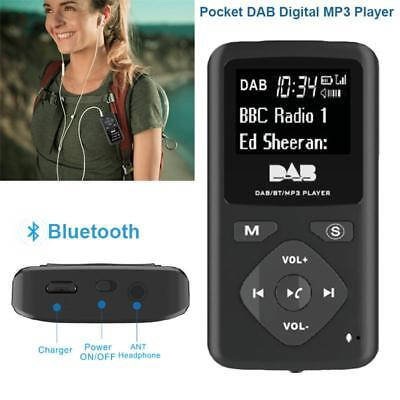 Pocket DAB Radio Portable Digital Radio With Bluetooth MP3 Player LCD Display AU