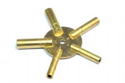 Proops Brass Spider Clock Winding Keys. Sizes 3, 5, 7, 9, 11. J1138 Free UK