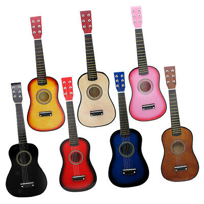 Polished Solid Wood 21inch 6 String Guitar Mini Acoustic Guitar Toys Set