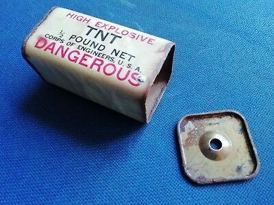 Original WWII US Army 1/2 Pound TNT Demolition Block Engineers / Airborne
