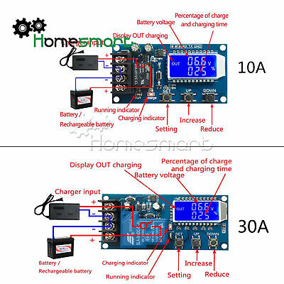 6-60V 10/30A Lithium Battery Charge Control LCD Display Module Protection Board