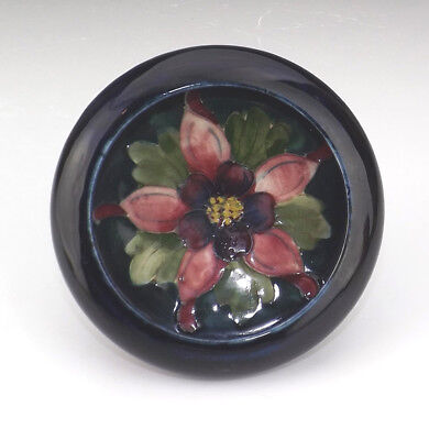 Moorcroft Pottery - Columbine Pattern Tube Lined Bowl - Lovely!