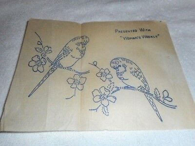 Vintage Embroidery Iron on Transfer  - Woman's Weekly - Birds