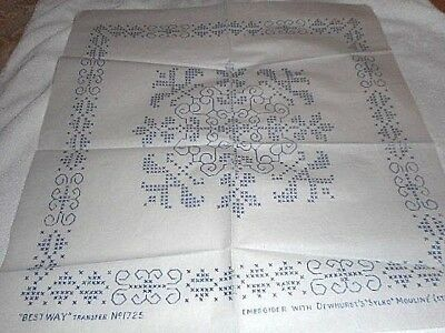 Large Vintage Embroidery Iron on Transfer - Bestway No.1725-  Flowers /Patterns