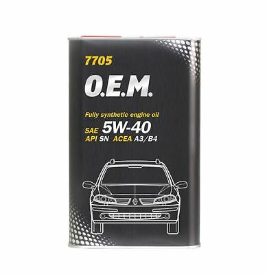 7705 O.E.M. for Renault Nissan 4L FULLY SYNTHETIC ENGINE OIL 5W40 A3/B4 SN/CF