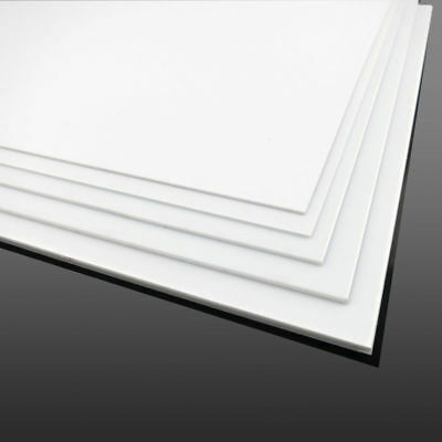 White ABS Plastic Sheet Panel DIY Model Craft 0.5~4mm Thick Multi Size