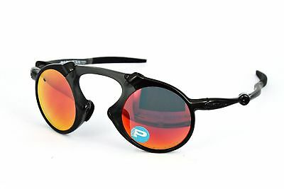 8412ed50dd6 OAKLEY MEN S MADMAN OO6019-02 Polarized Iridium Round Sunglasses ...