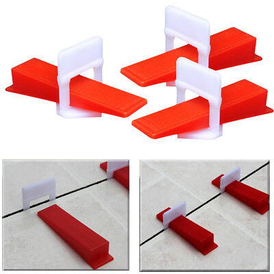 """1/32"""" Tile Leveling System 500 Clips+100 Wedge Wall Flooring Spacer Tilling Tool"""