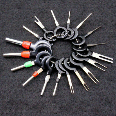 18Pcs Black Automotive Connector Plug Pin Crimp Removal Terminal Tool Wiring