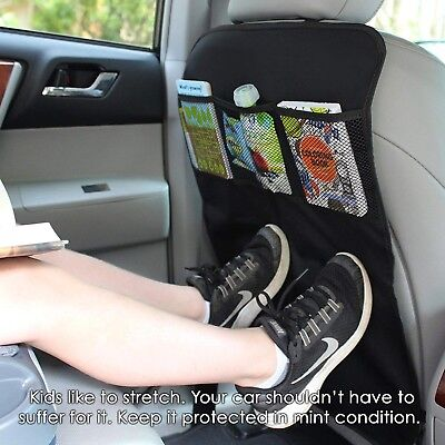 Car Seat Back Organizer Storage Protector Holder Kick Travel Pocket Mat Bag