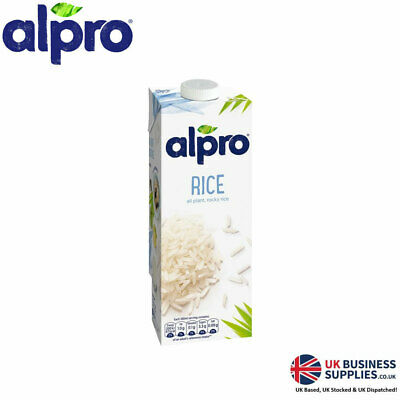 Alpro Rice Originals 1 Litre Perfect For Hot Drinks (1 - 8 Cartons)