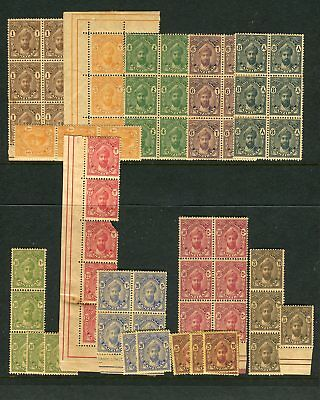 ZANZIBAR-1926-27  An unmounted mint set of 11 values Sg 299-309
