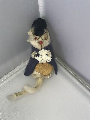 Original Fur Toys Made In W Germany Grandpa Mouse