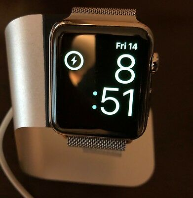 Apple Watch 42mm Stainless Steel Case With Milanese Loop 1st Generation