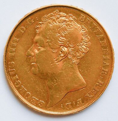 BOLD 1823 King George IV Gold Double Sovereign - £2 (Two Pounds)