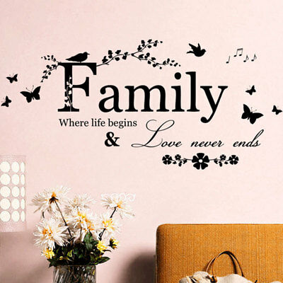 Family Love Quote Wall Sticker Decal Removable Mural Art Vinyl Home Decor DIY