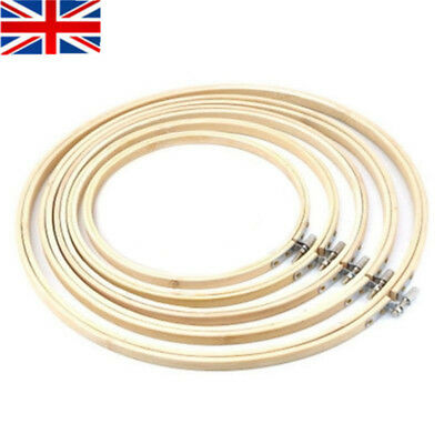 UK STOCK DIY Bamboo Embroidery Cross Stitch Tapestry Ring Hoop Frame Sewing Tool