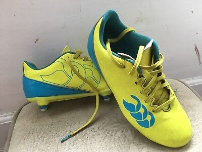 Canterbury Boys Speed 2.0 Soft Ground Rugby Boots Yellow (Sulphur Spring) 5 UK