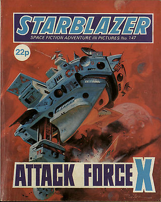 Attack Force X,starblazer Space Fiction Adventure In Pictures,no.147,1985
