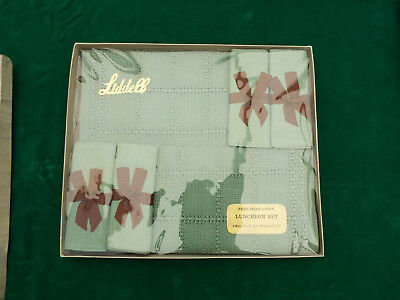 Vintage  Boxed Linen Table Setting