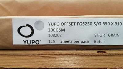 Yupo FGS 250 - 200 GSM (250 micron) Synthetic Paper 10 sheets A-4 210mmx297mm