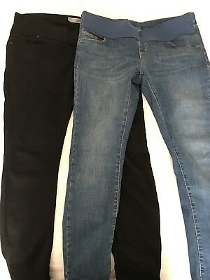 Topshop Maternity Leigh Jeans Bundle - Black & Blue. Size 12 Leg 30 Under Bump