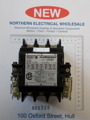 Allen West U030  30Kw 3 Phase + Single Phase Aux Contactor 415V Coil (600320)