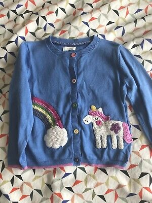 Next Girls 18-24 Months Rainbow Unicorn Cardigan