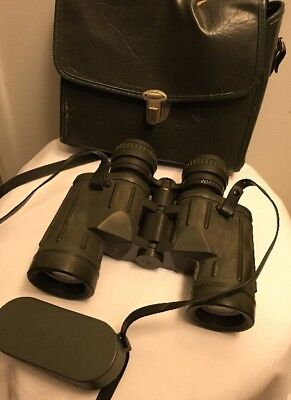 Sears VTG Discoverer Zoom Binoculars 8x 17x40 mm With Original Case Estate Find