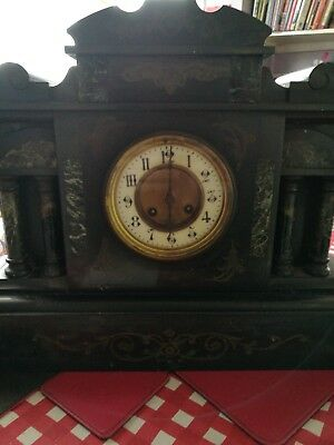French Thieble Mantle Clock 19th Century39507 Dial (No Keys)