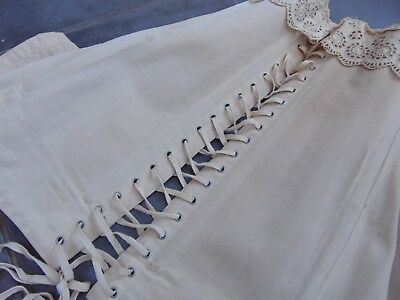 ANTIQUE FRENCH LATE 18th / EARLY 19th C QUALITY LACED CORSET with BONE STAYS