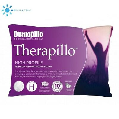 Dunlopillo Therapillo Premium Memory Foam Pillow High Profile (NEW)