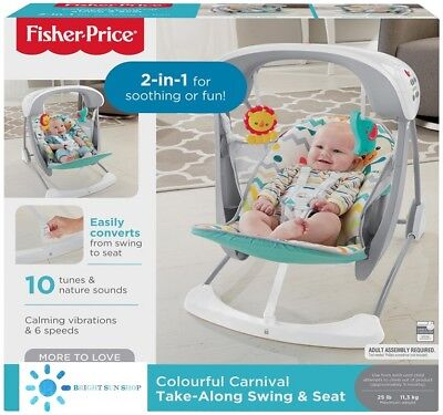 Fisher Price Colourful Carnival Take Along Swing & Seat for baby