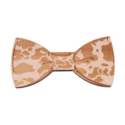 Wood Bow Ties For Men Wooden Mens for Wedding Party Yarn Butterfly Design NeC8Q2