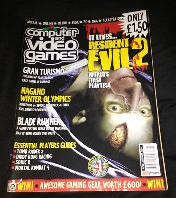 CVG COMPUTER AND VIDEO GAMES - GAMES MAGAZINE ISSUE 194 Resident Evil 2