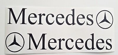 Mercedes Benz Truck  X2 Decal Sticker Matte Finish Logo Actros Atego Axor