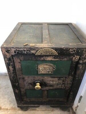 Silas C. Herring & Co Fireproof Safe - Manufactured May 18th, 1852 - Grasshopper