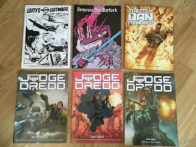 6 COMICS THAT CAME BAGGED WITH MY JUDGE DREDD MEGAZINE SUBSCRIPTION 2000ad